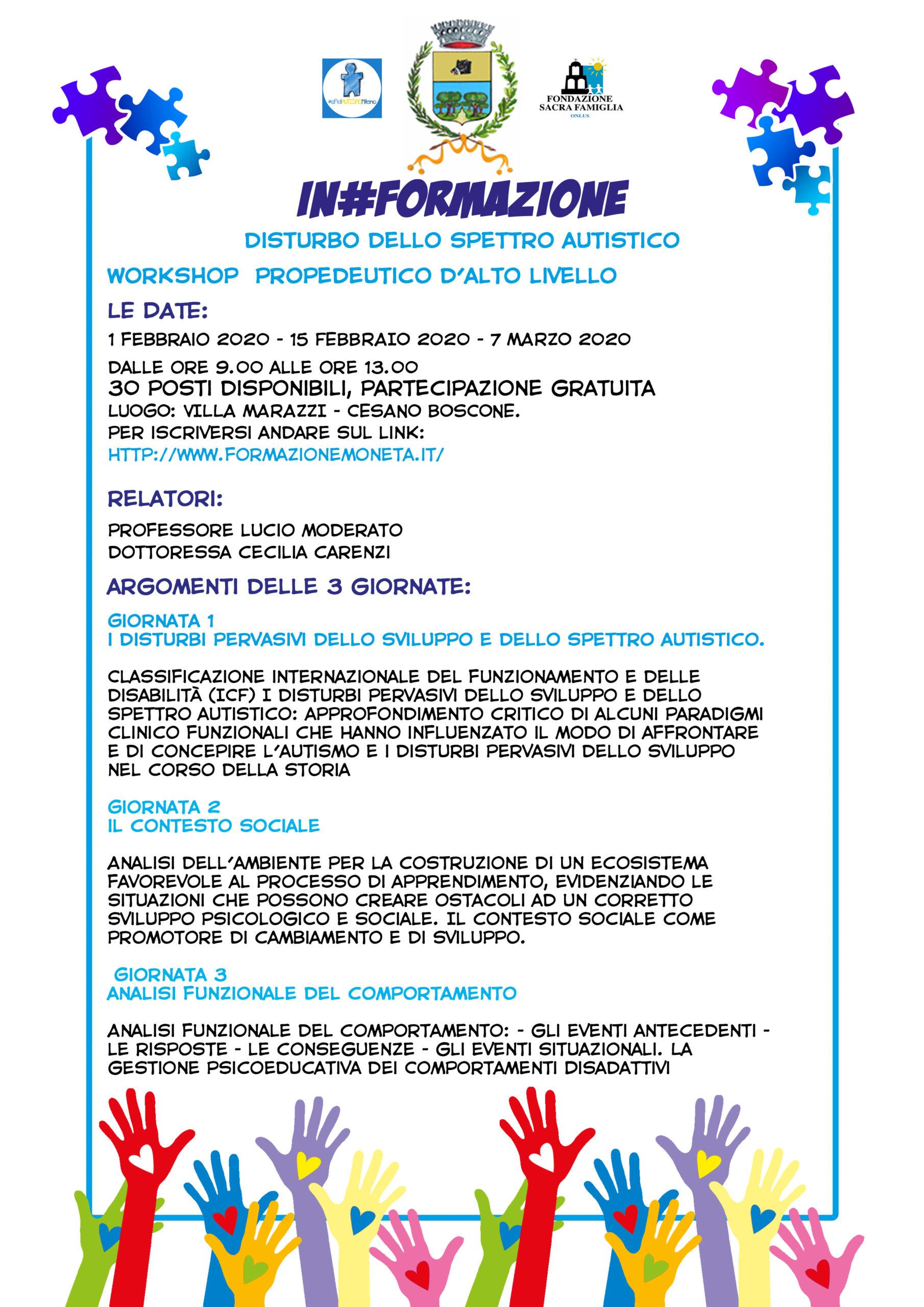 sfidAutismo 2019 | Workshop In#Formazione